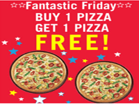 Domino's Pizza Buy One Get One Offer +100% Cashback Extra by Mobikwik Wallet