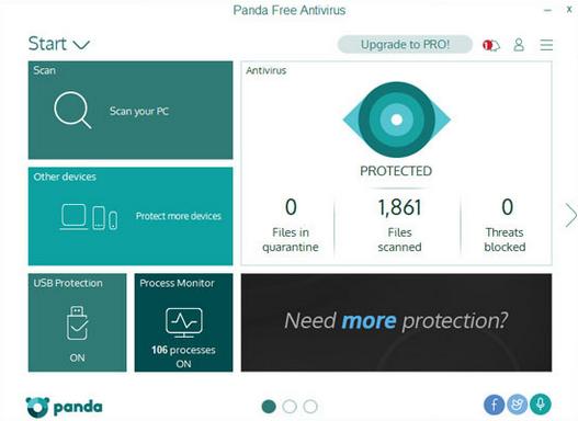 Panda Cloud - Free Antivirus 2017
