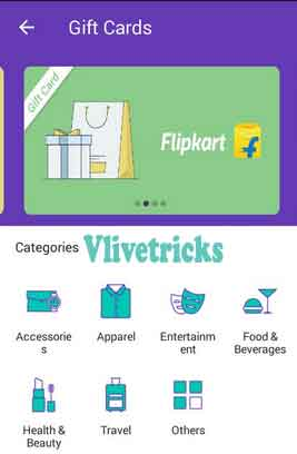 phonpe app gift cards category