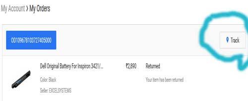 track flipkart order status online