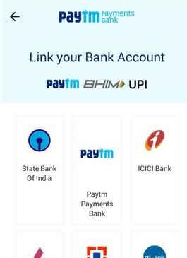 add bank account in paytm bhi upi