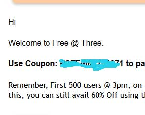 firstcry free@three coupon