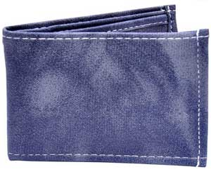 Accurate Men Blue Canvas & Fabric Wallet