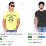 (Big Loot) Flipkart Ed Hardy Mens T-Shirts at ₹319 Worth ₹999 (68% Off)