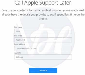 apple-call-support details