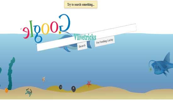 google-under-water gravity trick