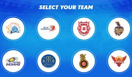 vivo ipl team selection