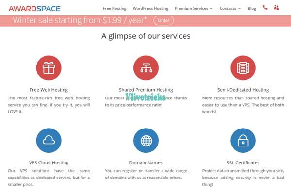 awardspace free web hosting features