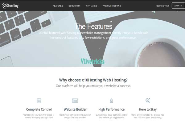 x10hosting free web hosting features