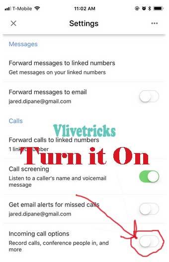 Google voice record phone calls