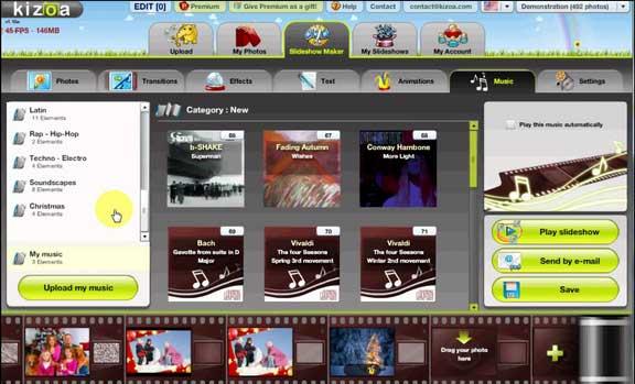 kizoa online video editor