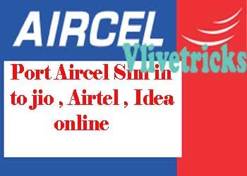 port aircel sim