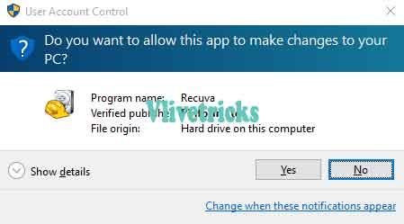 recuva-start up option