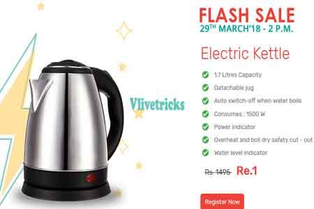 Zotezo Electric Kettel Rs. 1 Flash Sale