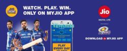 Jio Cricket Play Along -Answer Quiz & Win Grand Prizes (Trick)