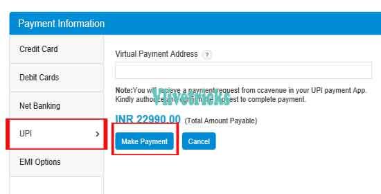vivo-upi-payment