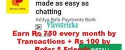 (Proof) Bhim ABPB UPI App -Refer & Earn+Rs 750 CB/Month