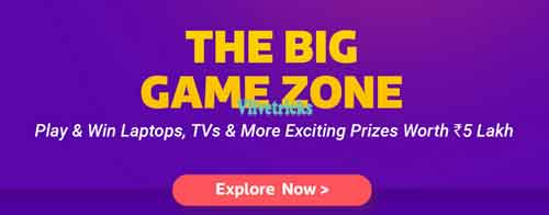 flipkart big game zone