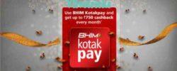 (Trick) Bhim KotakPay App -Earn Rs 25 Cashback/TXN upto Rs 750/Month