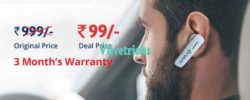 Loot !! Droom Bluetooth HeadSet Device -Get in Rs 99 Sale