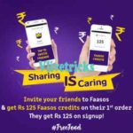 Faasos Refer And Earn Trick to Get Rs 225 on Sign up + Rs 125/Refer