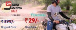(Loot) Droom Biker Sleeves Rs 29 Flash Sale -Get Biker Sleeves in Rs 29