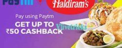Paytm Offer   Buy Haldiram Rs 50 Voucher Free with Rs 10 Cash