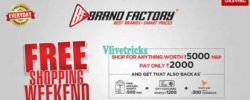 (Loot) Brand Factory -Free Shopping Rs 4000 Weekend (Free Passes)
