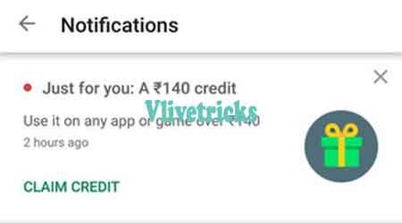 google play free credits