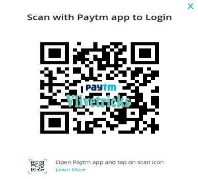 paytm scan code login