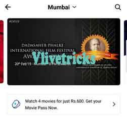 movie pass paytm option