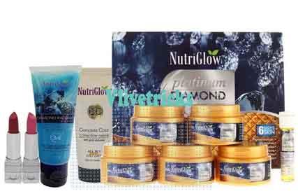 nutriglow platnium diamond facial kit