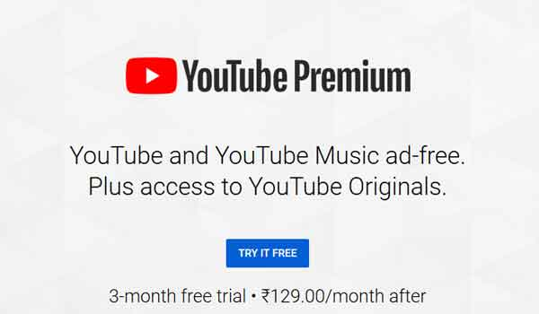 youtube premium subscription free trial