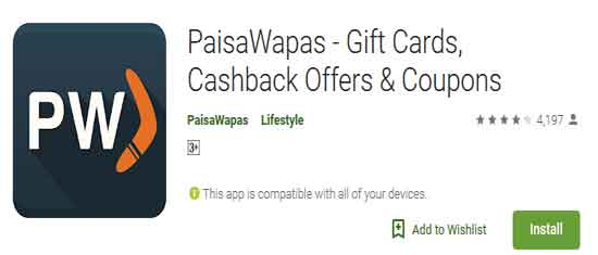 paisawapas paytm offer