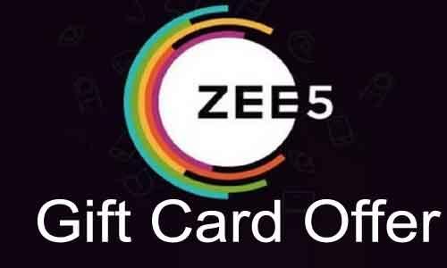 zee5 gift card offer