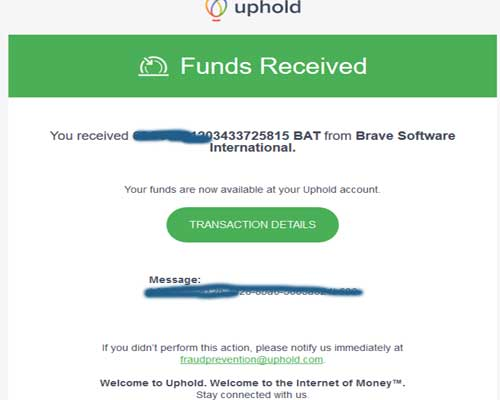 payment proof