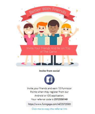 funngage referral code