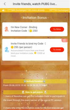 invitation bonus