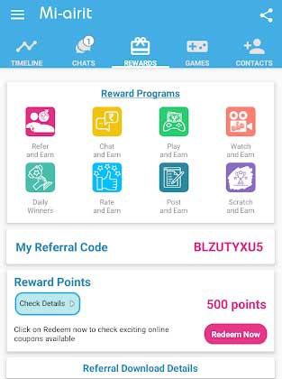 mi airit app rewards