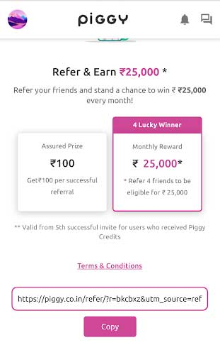 piggy app refer earn