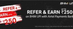 upi refer and earn banner in airtel app