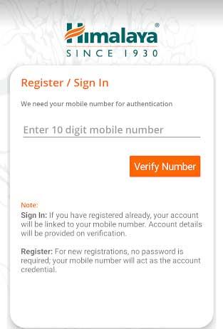 sign in or register