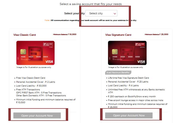 Idfc bank forex card