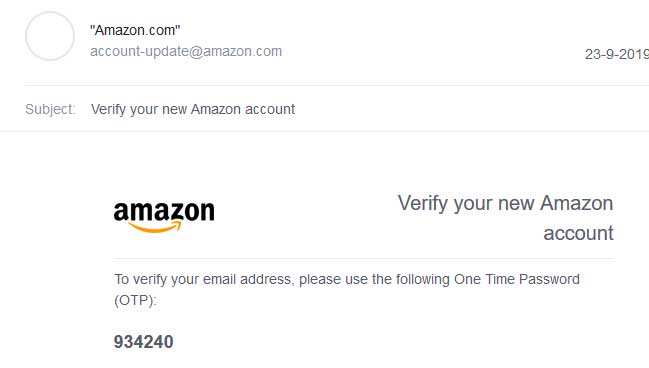 amazon-otp-on-email