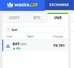 wazirx bat token to inr convert
