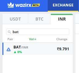 wazirx bat token to inr convert