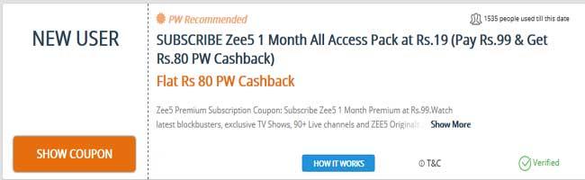 paisawapas zee5 coupon