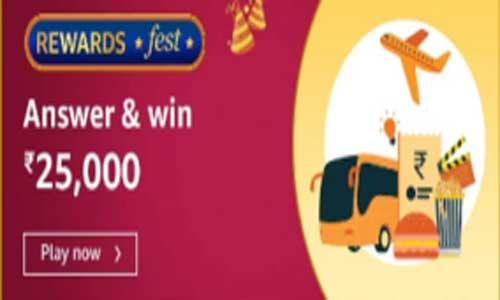 amazon reward fest quiz