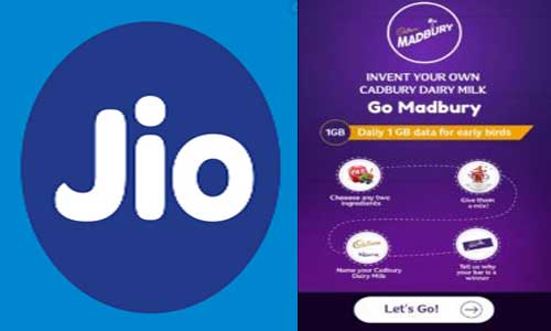 jio cadbury free data
