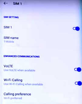 android wifi calling enable